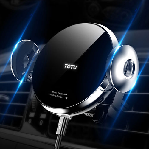 Totu (15W) Fast Wireless Charger Car Mount / Air Vent & Suction Cup / Auto IR Sensor